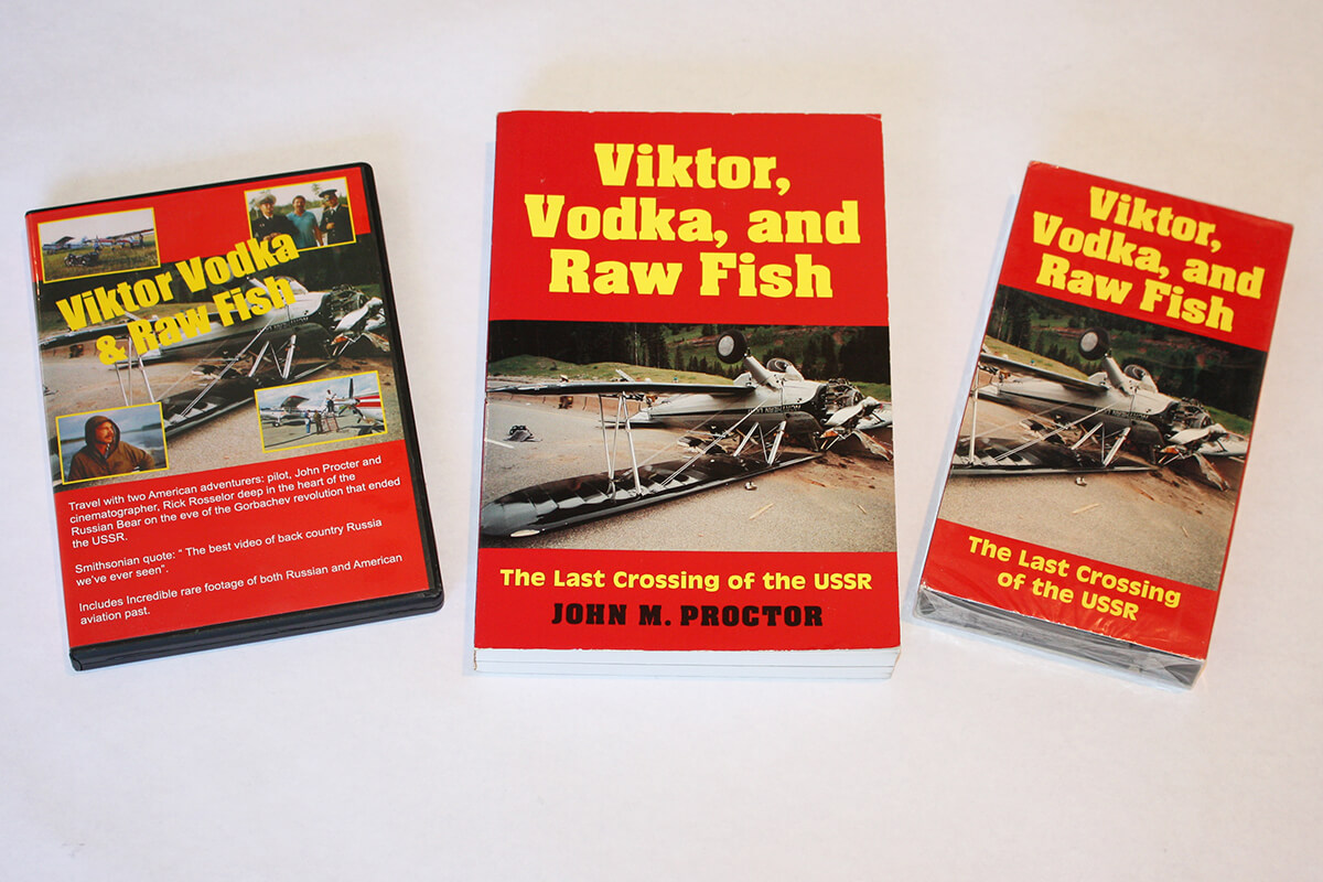 Viktor, Vodka, and Raw Fish, DVD, Book and VHS